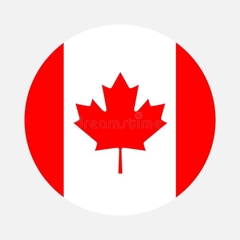 Círculo de la bandera de Canadá stock de ilustración