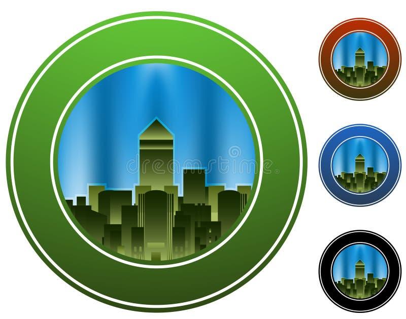Círculo de la ciudad ilustración del vector