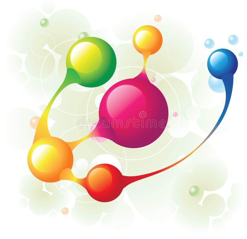 Círculo de la molécula libre illustration