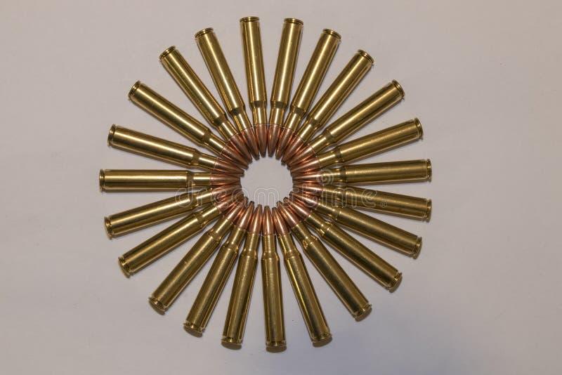 Círculo de la munición grande imagenes de archivo