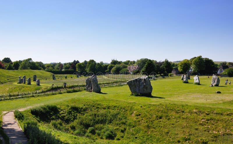 Círculo de la piedra de Avebury imagenes de archivo