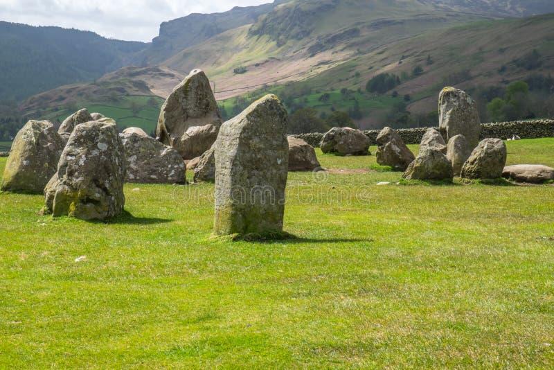 Círculo de la piedra de Castlerigg, Keswick Cumbria Inglaterra 16 5 15 imágenes de archivo libres de regalías