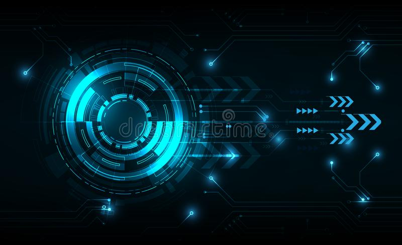 Círculo de la tecnología del vector con diverso tecnológico ilustración del vector