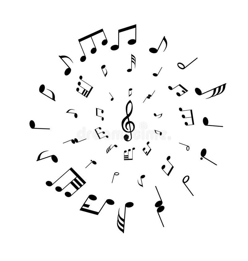 Círculo de las notas ilustración del vector