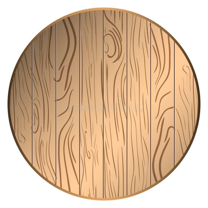 Círculo de madera aislado ilustración del vector