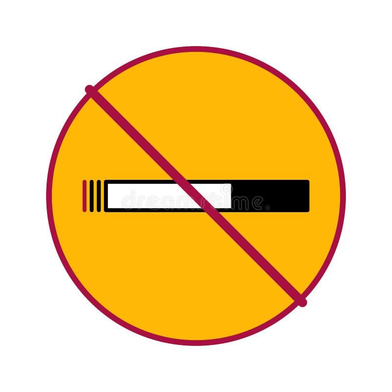 Círculo de no fumadores 2 stock de ilustración
