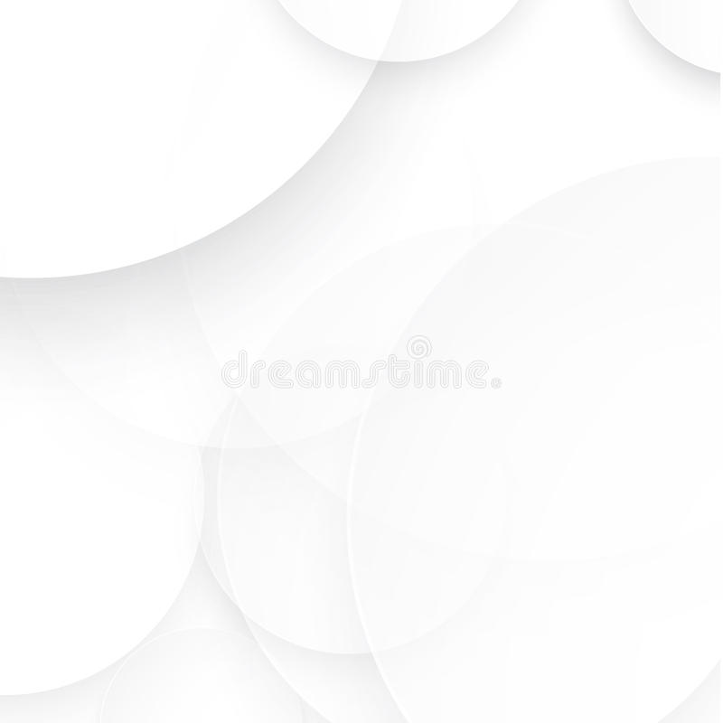 Círculo de papel del vector con las sombras del descenso ilustración del vector