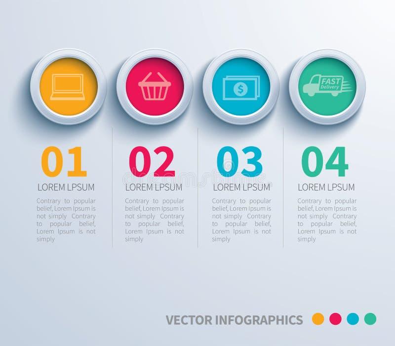 Círculo de papel infographic ilustração royalty free