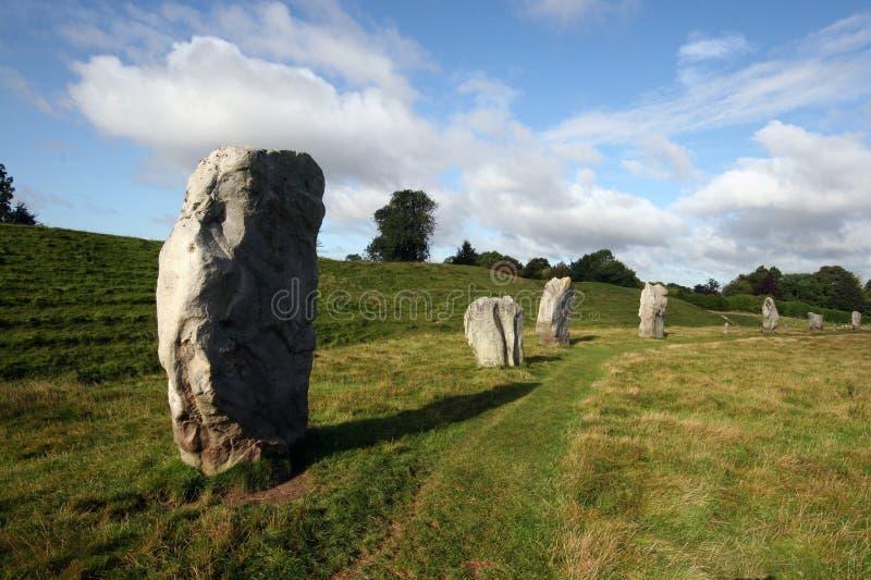 Círculo de pedra de Avebury fotografia de stock