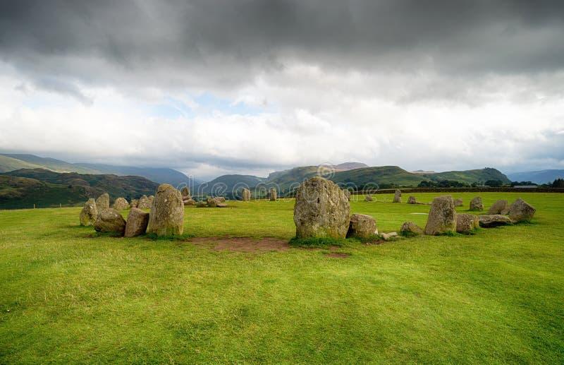 Círculo de pedra de Castlerigg imagem de stock royalty free