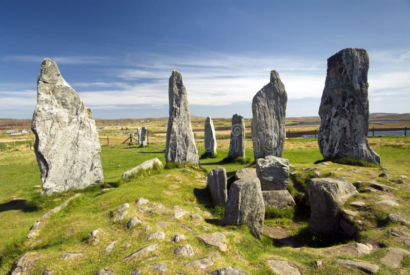Círculo de pedra ereto de Callanish, ilha de Lewis, Escócia, Reino Unido. fotografia de stock royalty free