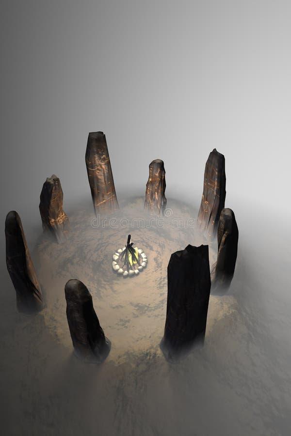Círculo de piedra antiguo fotografía de archivo