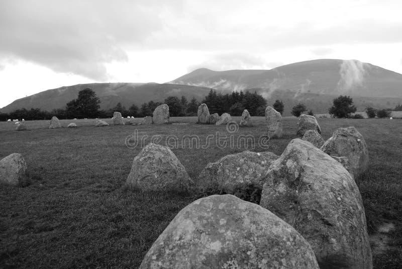 Círculo de piedra de Castlerigg fotografía de archivo libre de regalías