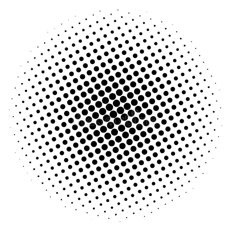 Círculo de semitono del artículo, en un fondo blanco Ilustración del vector para su agua dulce de design ilustración del vector