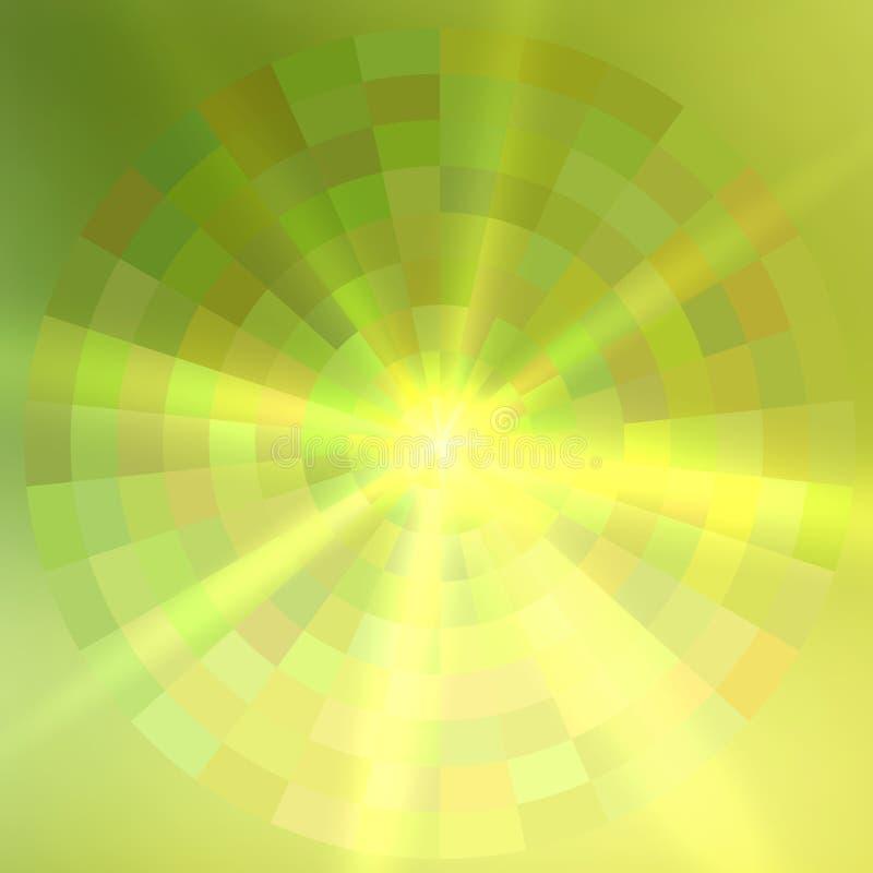 Círculo de sobreposición del fondo abstracto verde stock de ilustración