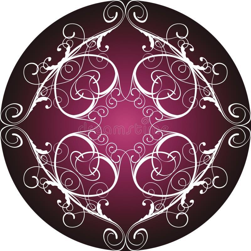 Círculo decorativo floral ilustração do vetor
