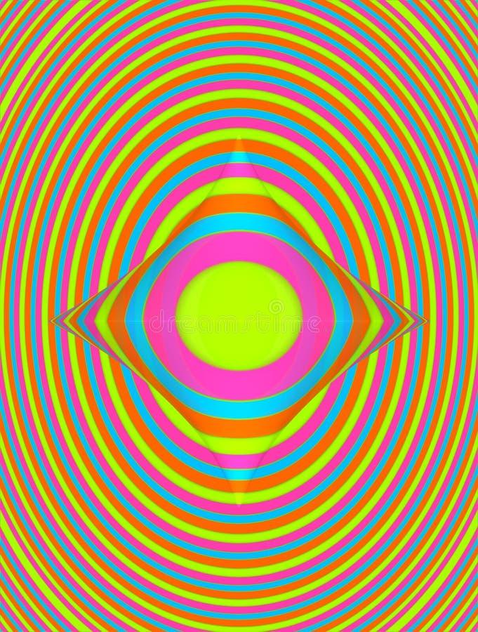 Círculo deformado ilustración del vector