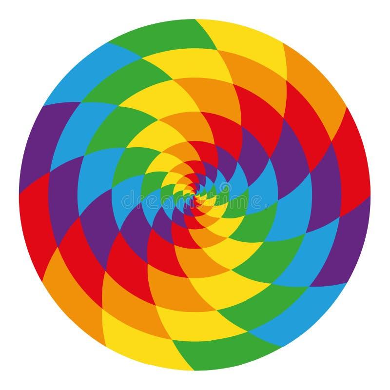 Círculo del arco iris psicodélico abstracto libre illustration
