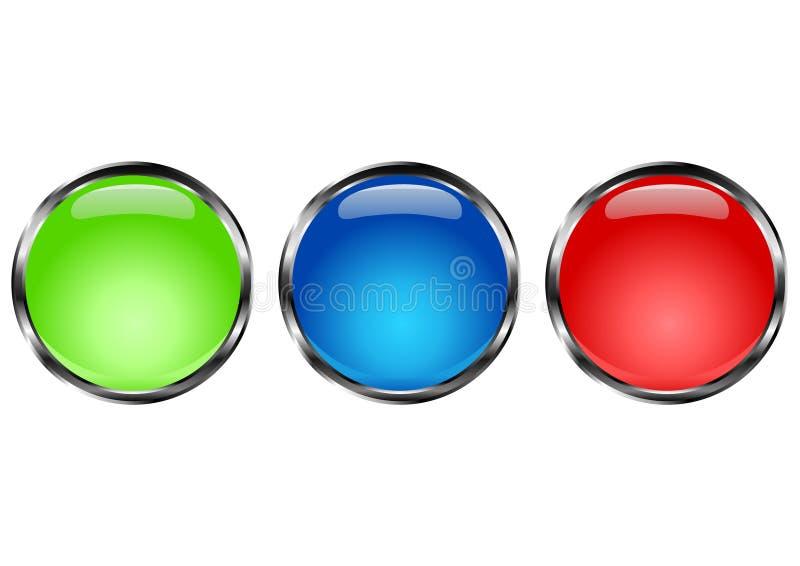 Círculo del botón stock de ilustración