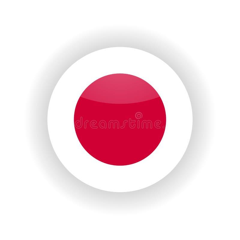 Círculo del icono de Japón stock de ilustración