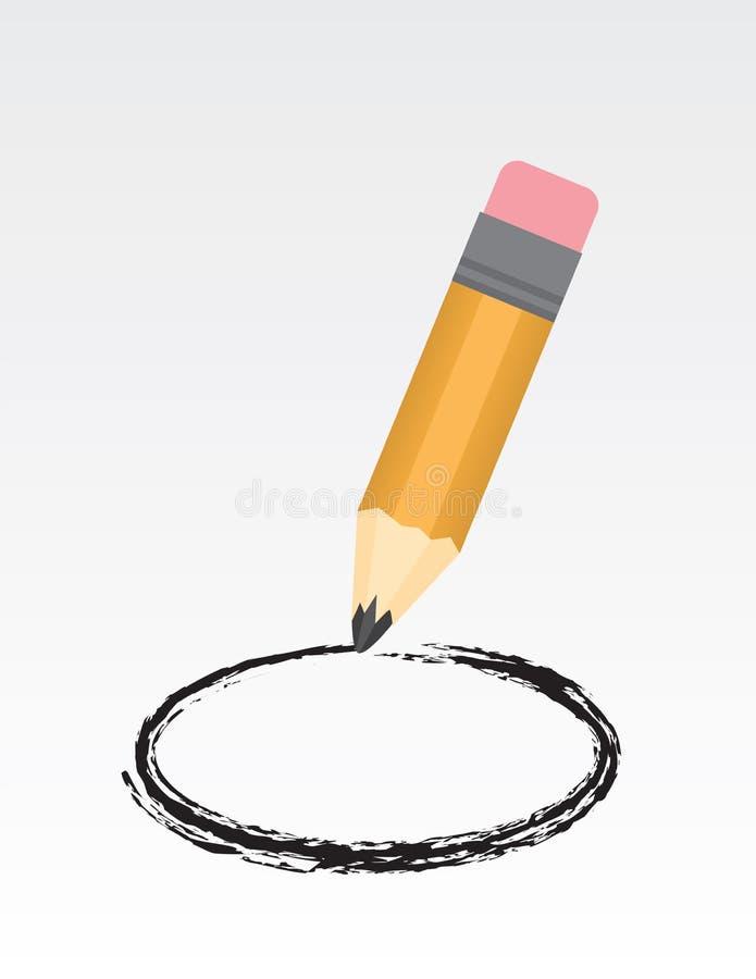 Círculo del lápiz libre illustration