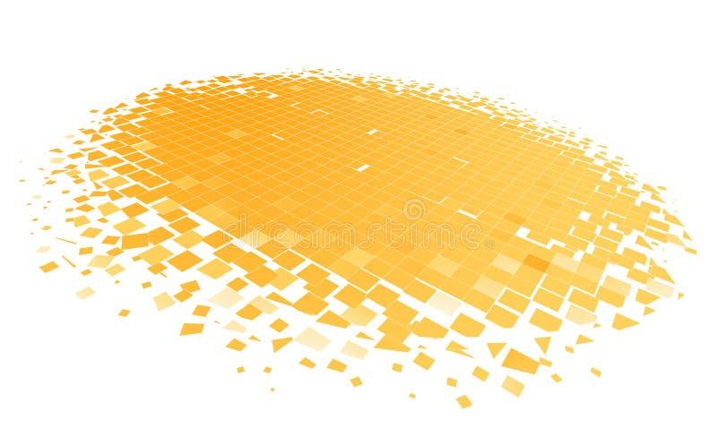 Círculo del mosaico en perspectiva ilustración del vector
