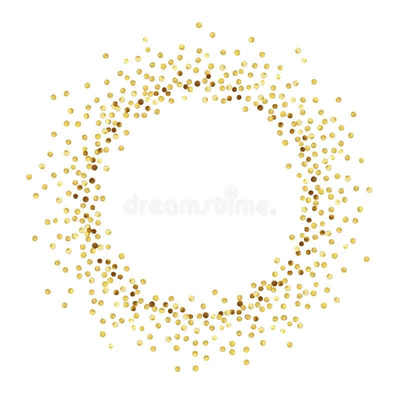 Círculo del punto del oro stock de ilustración