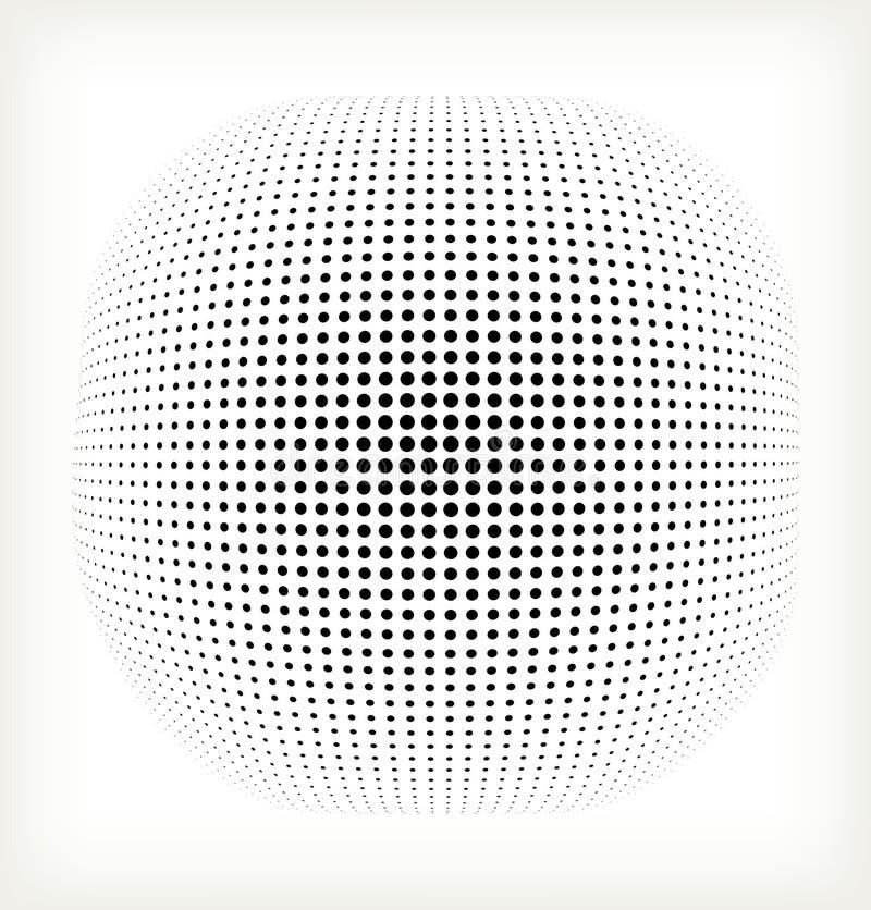 Círculo del tono medio del vector stock de ilustración