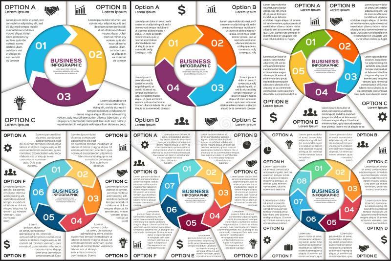 Círculo del vector infographic Plantilla para el ciclo stock de ilustración