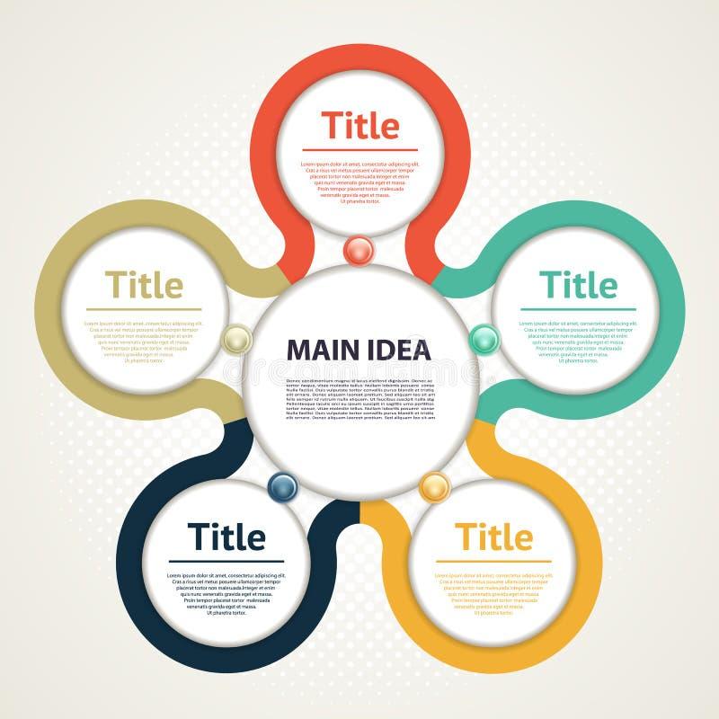 Círculo del vector infographic Plantilla para el diagrama, el gráfico, la presentación y la carta El concepto del negocio con cin stock de ilustración