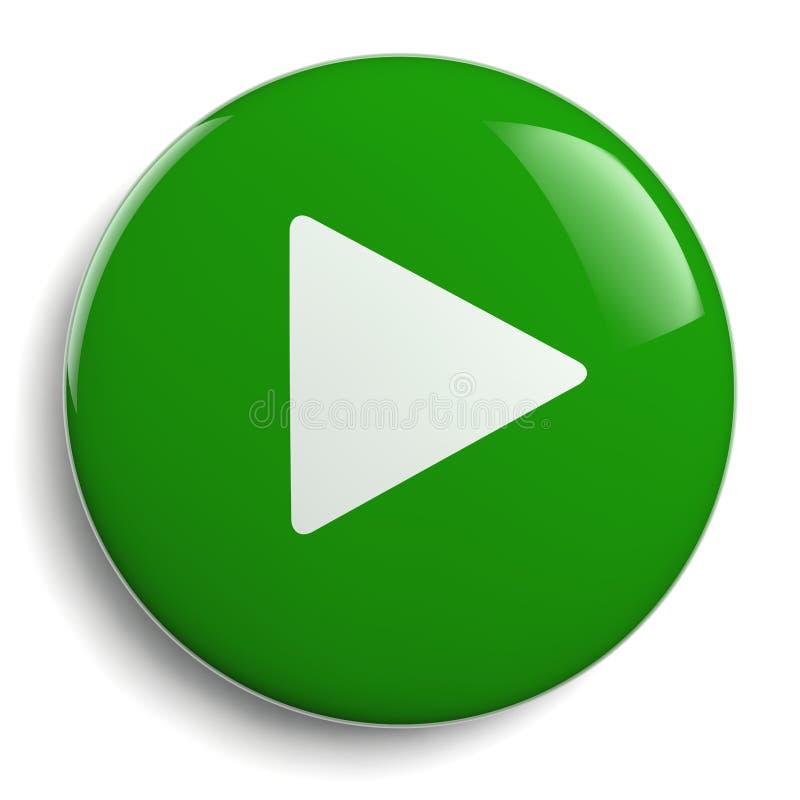 Círculo del verde del botón del juego libre illustration