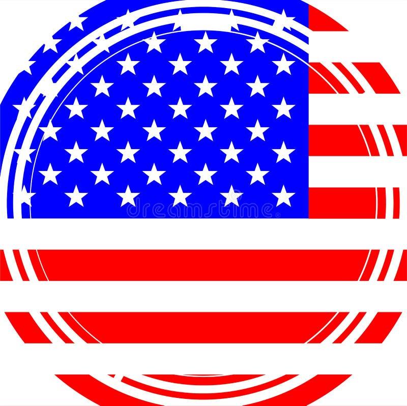 Círculo desconcertado da bandeira dos Estados Unidos ilustração stock