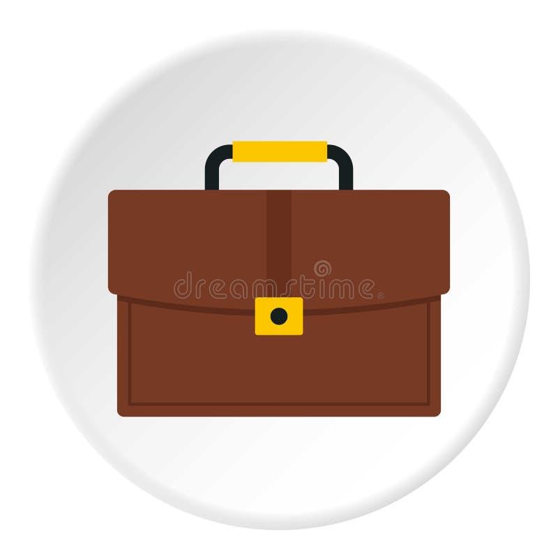 Círculo do ícone da pasta do negócio de Brown ilustração do vetor
