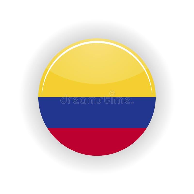 Círculo do ícone de Colômbia ilustração royalty free