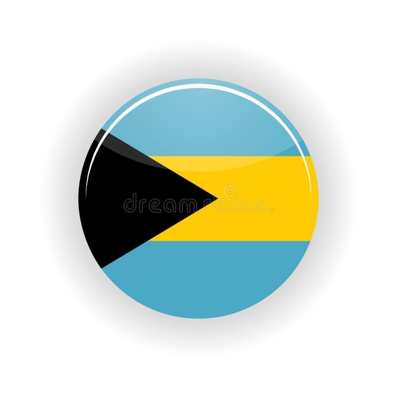 Círculo do ícone do Bahamas ilustração royalty free