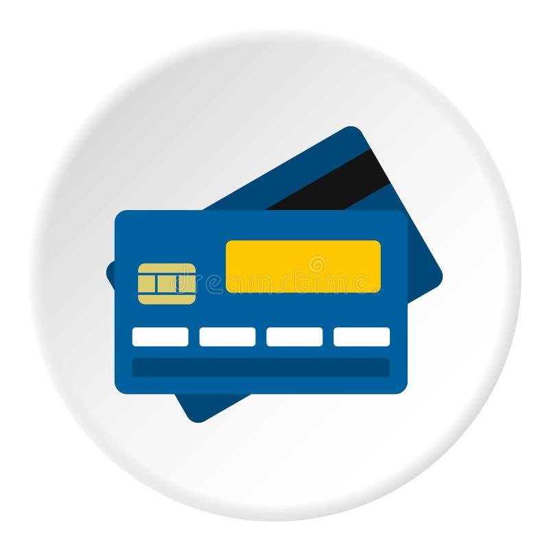Círculo do ícone do cartão de crédito ilustração royalty free