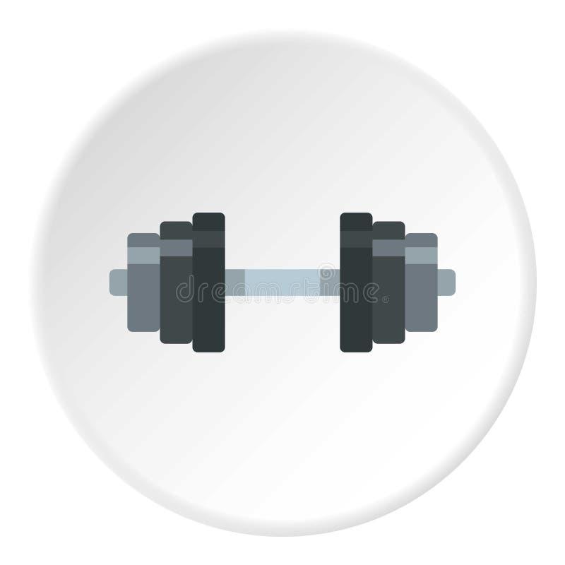 Círculo do ícone do peso ilustração stock