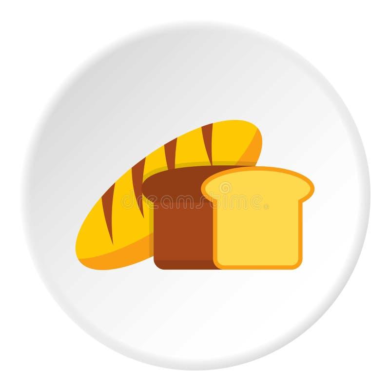 Círculo do ícone do pão fresco ilustração do vetor