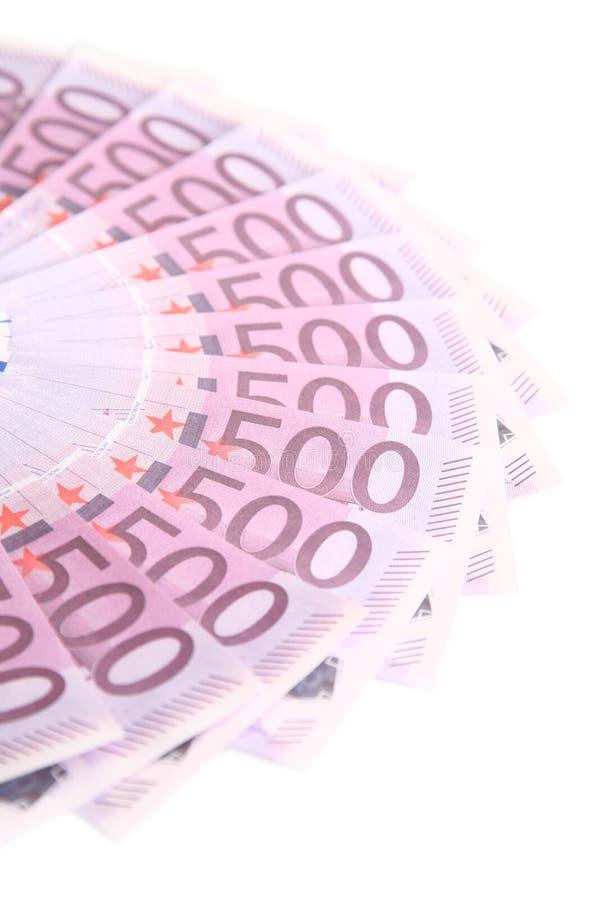 Círculo do euro na perspectiva fotos de stock royalty free