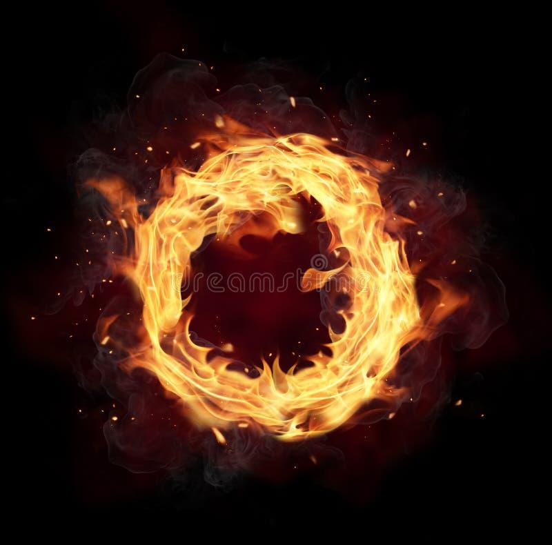Círculo do fogo imagens de stock