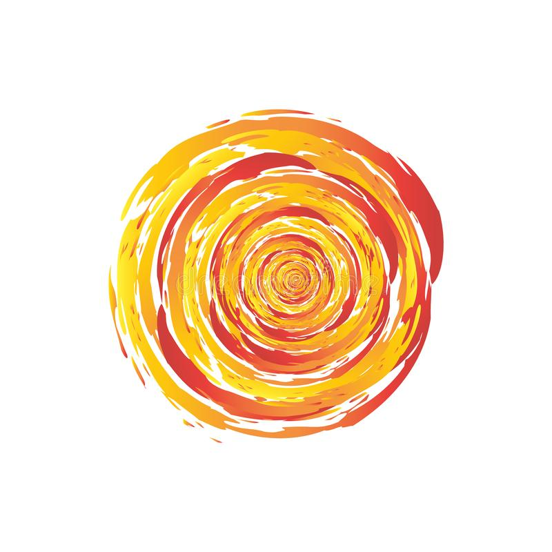 Círculo do fogo do redemoinho ilustração royalty free