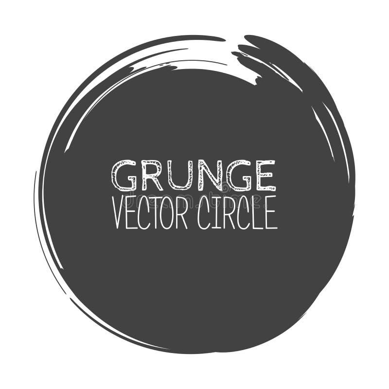 Círculo do Grunge do vetor Elemento para seu projeto Textura do carimbo de borracha Quadro da beira da aflição ilustração do vetor