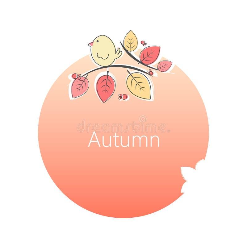Círculo do outono ilustração royalty free