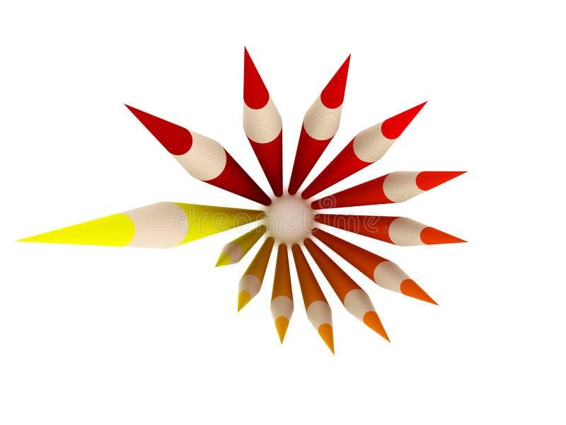 Círculo do pastel - vista superior ilustração royalty free