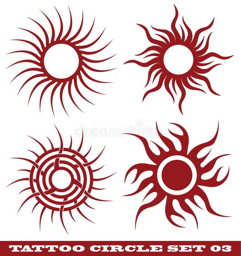 Círculo do tatuagem ilustração royalty free