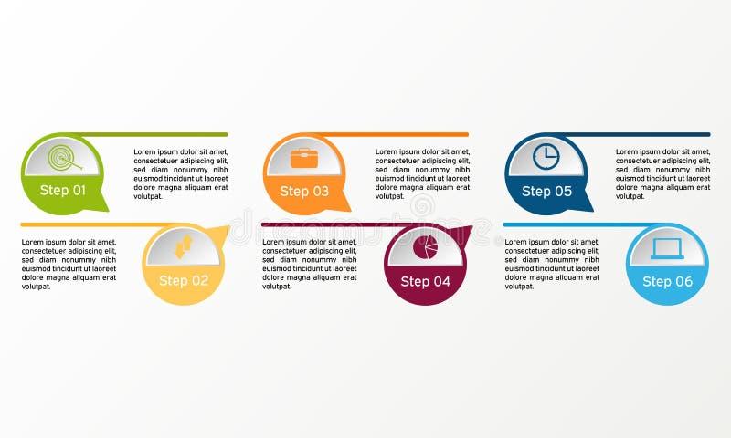 Círculo do vetor infographic Diagramas, apresentações e cartas do negócio Fundo ilustração royalty free