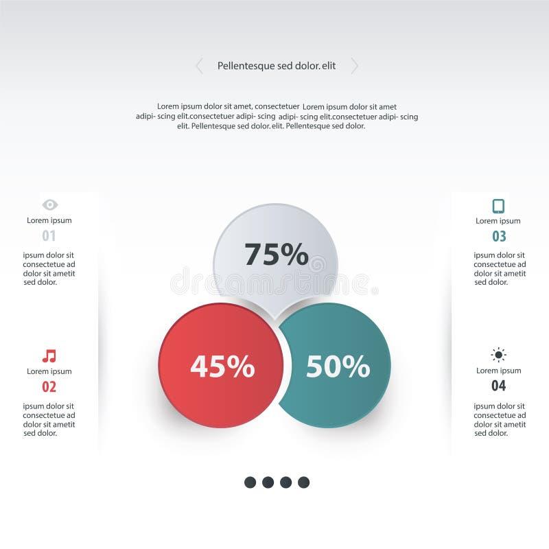 Círculo do vetor infographic Molde para o diagrama, gráfico, presenta ilustração stock