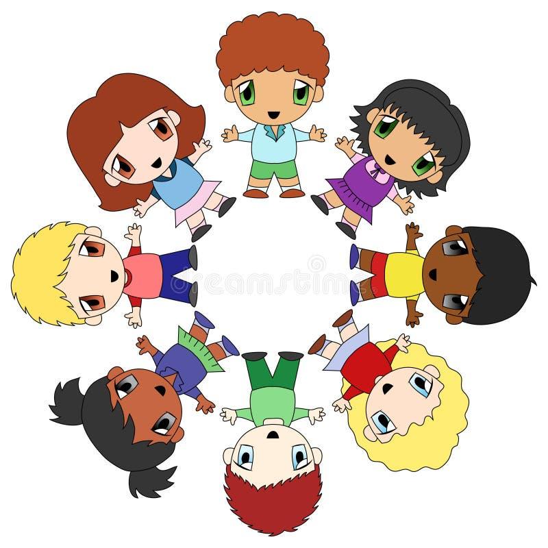 Círculo dos miúdos ilustração royalty free