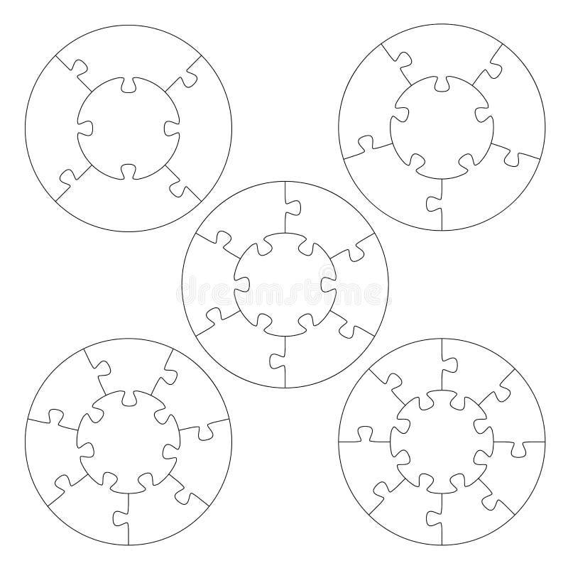 Círculo dos moldes do enigma ilustração royalty free