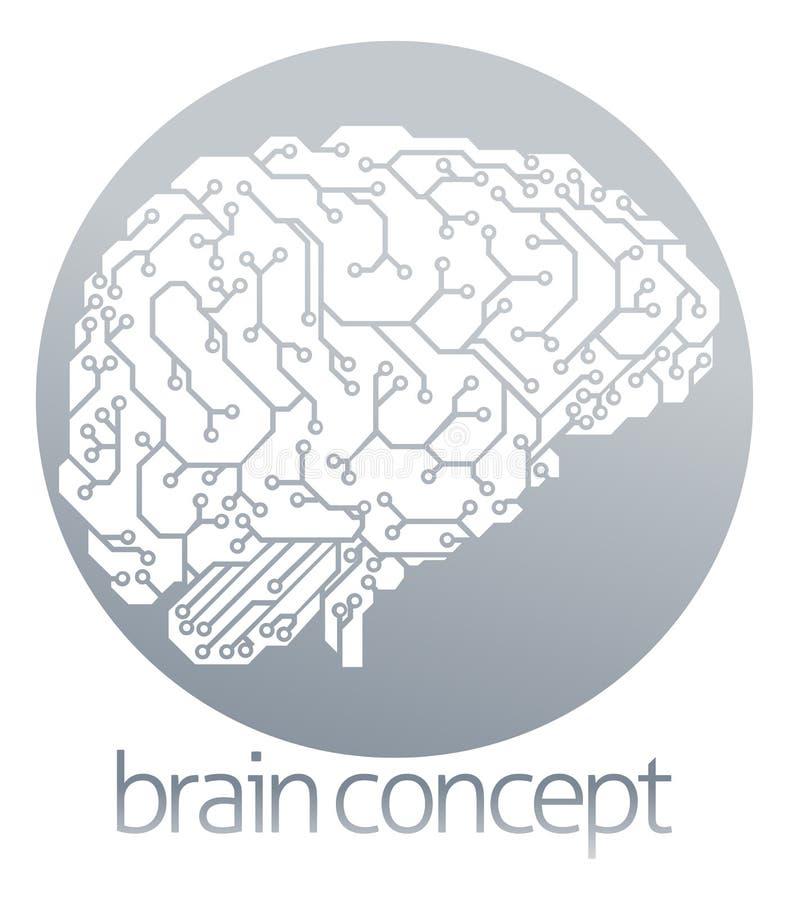 Círculo eletrônico do cérebro ilustração do vetor